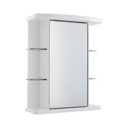 Virtue White Gloss Single Mirror Cabinet 530mm x 665mm